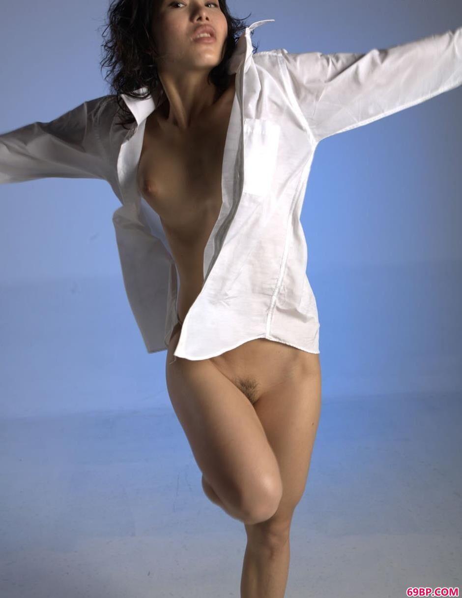 小雪室拍衬衫人体
